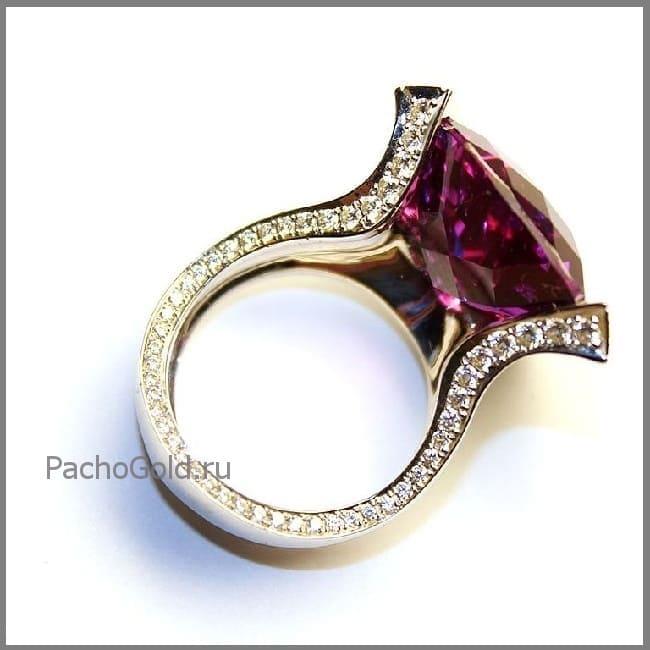 Женское кольцо с большим аметистом на заказ Accord