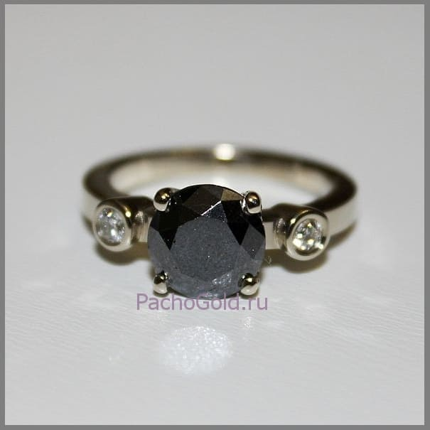 Женское кольцо с бриллиантом Маятник на заказ