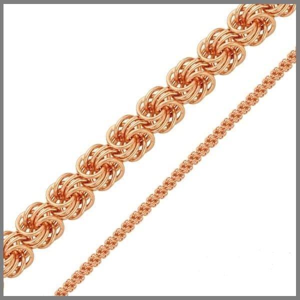 Золотая цепочка плетения Роза