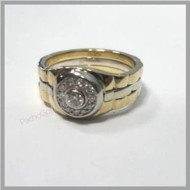 Золотое мужское кольцо с бриллиантами на заказ Броня