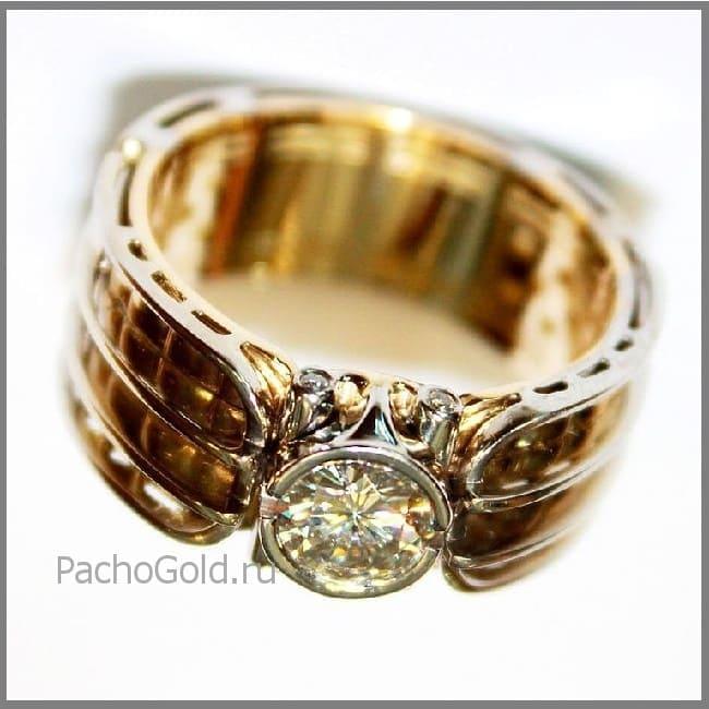 Золотое кольцо для мужчины Alfa