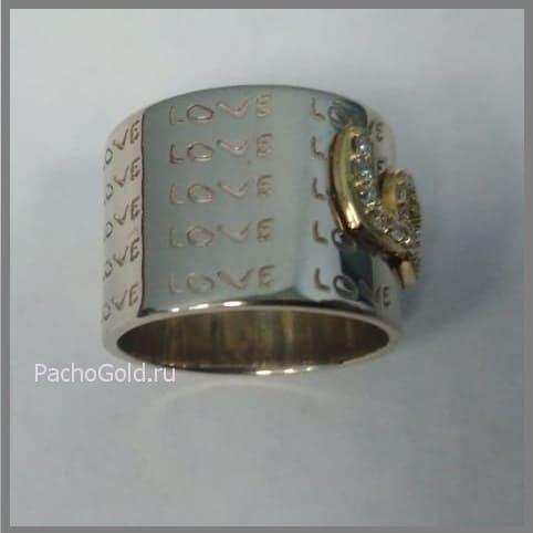 Золотое кольцо для женщин на заказ Love