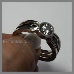 Золотое мужское кольцо эксклюзив Alfa