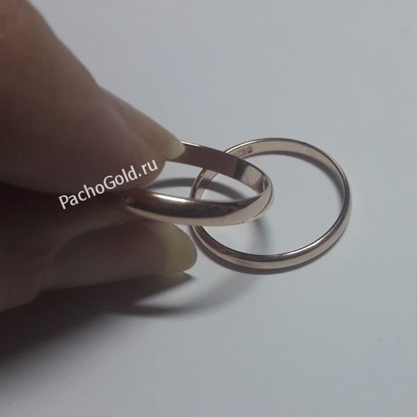 Классические обручальные кольца из своего материала