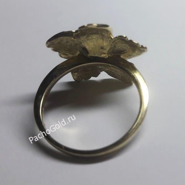 Кольцо с большим цветком