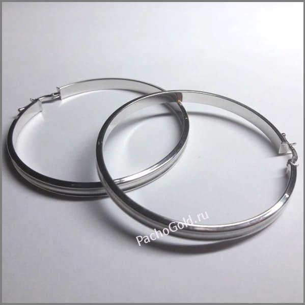 Золотые серьги большие кольца