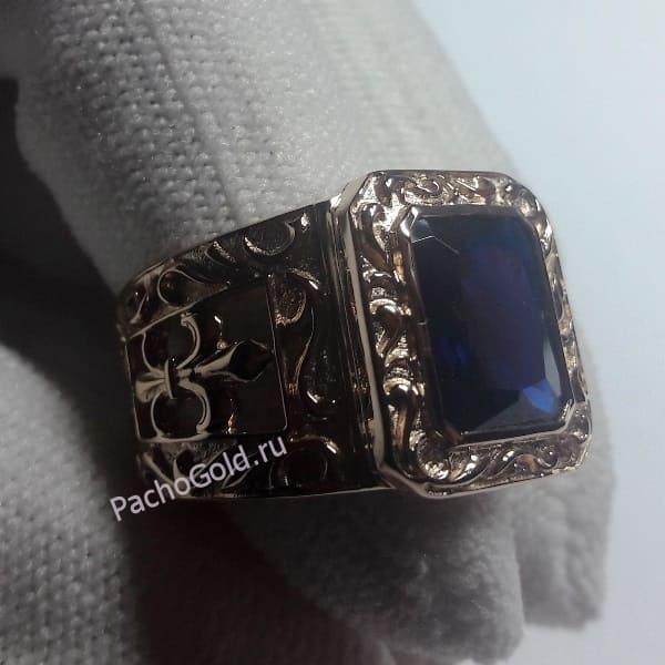 Перстень Королеская лилия для мужчины из золота 585
